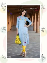 Aakara Presents Basics Vol 6 Straight Kurti