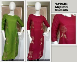 Casual silk Screen Printed Kurti