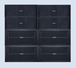 2.0 Black Pinto 2-Way 4000w Dual Bass & Line Array Dj Sound System, 21000W