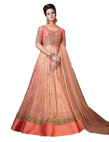 2742de2d2cb Party Wear Embroidered Gown Style Anarkali Suits