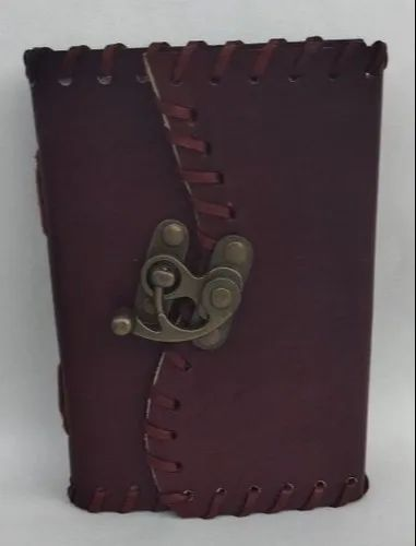 Hand Leather Stitching With Lock Closure Leather Journals
