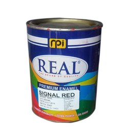 Metal And Wood Real Single Red Enamel Paint, For Industrial, Packaging Size: 500 Ml