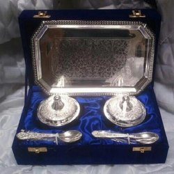 Silver Gold Plated Copper Supari Box