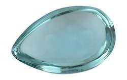 Aquamarine Pear Glass Gemstones