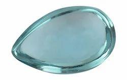 Aquamarine Pear Glass Gemstone