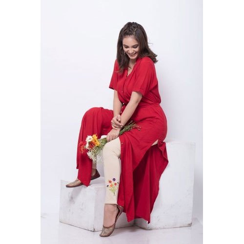 04d4b4470f3 Cotton Collar Neck Red Maxi Ladies Tunic, Rs 650 /piece, Ombre ...