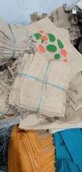 Rope Handle Multicolor Jute Potli ( Carry bag)