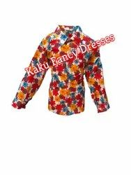 Kids Flower Print Shirt Costume