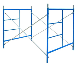 Blue Stainless Steel Scaffolding Frames