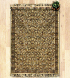 Brown Mud Resist Printing Kosher - Handmade Cotton Floor Rug, Size: 48 X 72 In