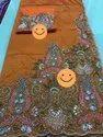 Beautiful Heavy Beaded African George Fabric