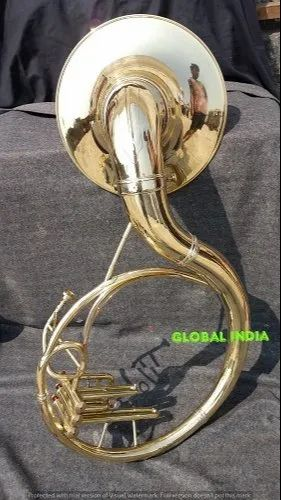 "SOUSAPHONE BIG 25/"" BELL IN CHROME POLISH OF PURE BRASS FREE CASE SHIPPING FREE"