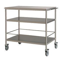 Silver Stainless Steel Multi Purpose Trolley