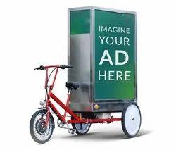 Flex Tricycle Advertising, Mode Of Advertising: Offline