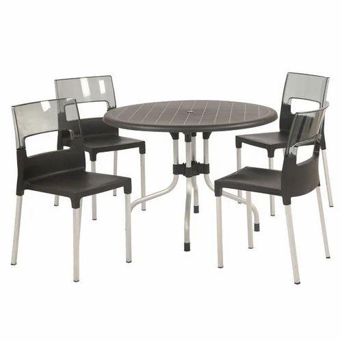 Supreme Brown Plastic Cafeteria Furniture Set Rs 18000