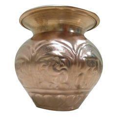Round Brinda Ganesh Printed Copper Lota