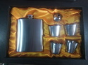 Hip Flask Set With Short Four Glass And Funnel