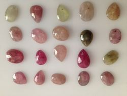 Multi Sapphire Flat Rose Cut Loose Gemstones