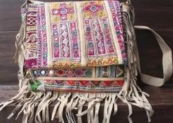 Indian Vintage Banjara Embroidery Cross Body Bag