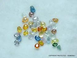 Multi Sapphire Uneven Shape, Carat: .50-1 Cts