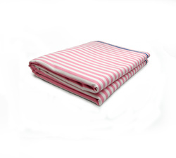 Pink White Striped Hospital Linen, Size: 60*90