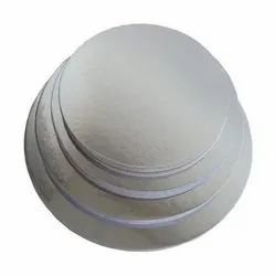 8 Inch Round Cake Base with Silver Foil