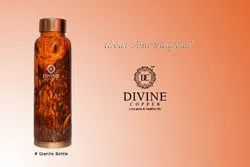 Standard Polished Copper Marble touch Meena bottle, Capacity: 950ml