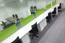 Green Desk Type Modular Workstation