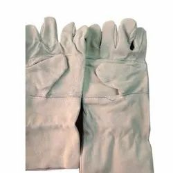Leather Safety Gloves, 6-10 Inches, Finger Type: Full Fingered