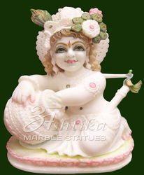 Marble Bal Gopal Makhan Chor Krishna Statue