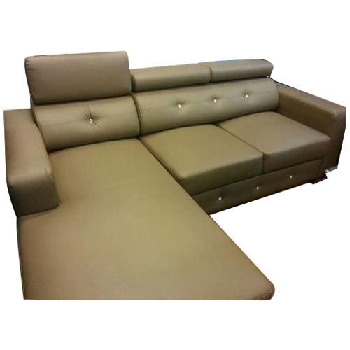 Light Brown Leather Sofa Rs 125000