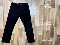 Cotton Men Carbon Black Jeans