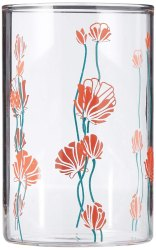 Borosil Bud Glass Set, 295ml, Set of 6, Transparent