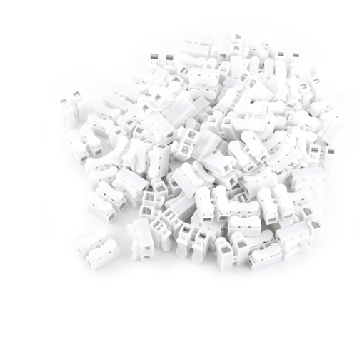white 25pcs 10a 220v 2 pin push quick wire cable connector wiring terminal  cable connector