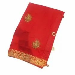 Fancy Embroidered Cotton Saree