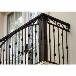 Floor Mounted Metal Balcony Railing