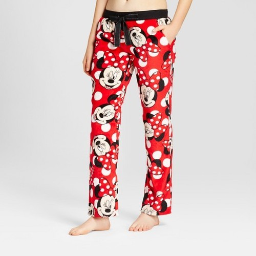 Ladies Lycra Cotton Red Micky Printed Pyjama 4596b3a97