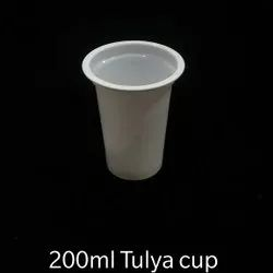 PP Plain 200ml Tulya Disposable Glass, For Party Supplies, 250 Micron