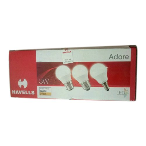 Warm White 3W Havells LED Bulbs, For Home