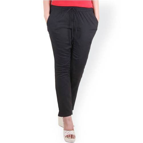Black Cotton Ladies Plain Legging, Size: Medium and Large