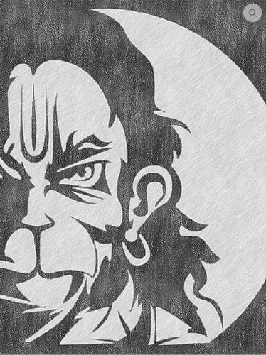 Hanuman Pencil Sketch Size A3 And A4 Rs 199 Piece Radium Arts