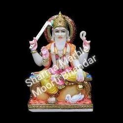 White Marble Vishwkarma Statue