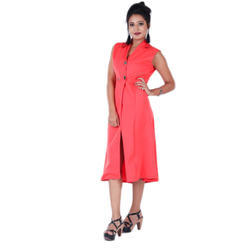 Ladies Red Party Wear Dress
