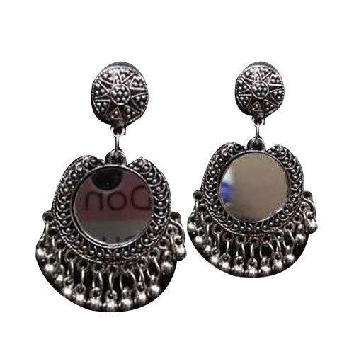 02f7a6051 Oxide Silver Plain Silver Oxide Drop Earring