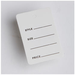 Garments Price Tag
