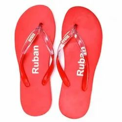 Ladies Red Daily Wear Slippers
