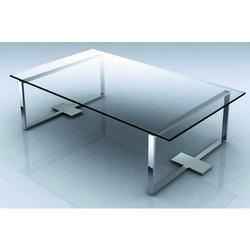 Stainless Steel Glass Table