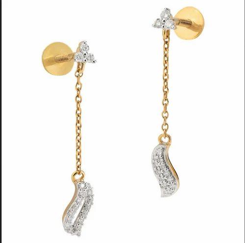 Tanishq 18kt Diamond S Drops Earring