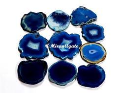 Blue Agate Slice For Coasters