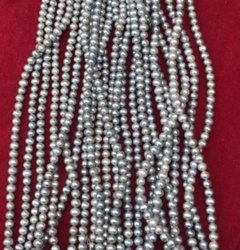 Grey Colour Fresh Water Pearl String